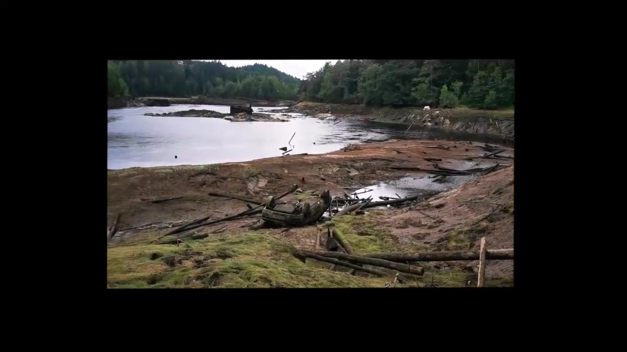 Nedtapping av Rygene-dammen